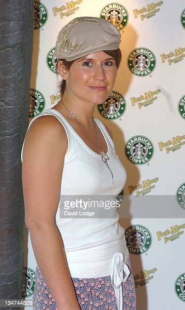Harriet Scott during Starbucks Mango Mania Frappuccino Party at Somerset House in London