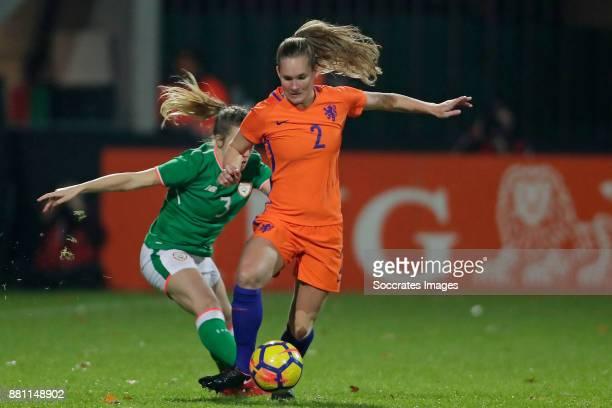 Harriet Sott of Republic of Ireland Desiree van Lunteren of Holland Women during the World Cup Qualifier match between Holland v Republic of Ireland...