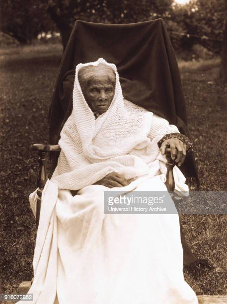 Harriet Tubman , American Abolitionist, Portrait in Rocking Chair at Home, Auburn, New York, USA, 1911.