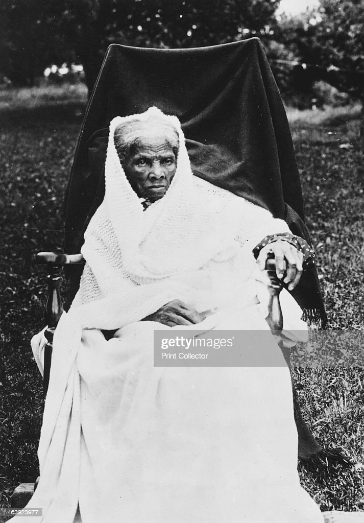 Harriet Tubman, American anti-slavery activist, c1913. Harriet Tubman (c1820-1913) was born into slavery in America. She escaped in 1849, became a leading Abolitionist and was active as a 'conductor' in the Underground Railroad, the network which helped escaped slaves to reach safety.