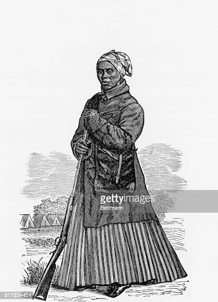 Harriet Tubman famed abolitionist Undated woodcut BPA#258