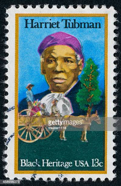 harriet tubman stamp - african slave trade stock photos and pictures