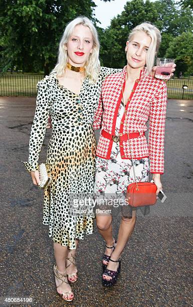 Harriet Verney and Alex Brownsell attend the COS x The Serpentine party at The Serpentine Gallery on July 14 2015 in London England