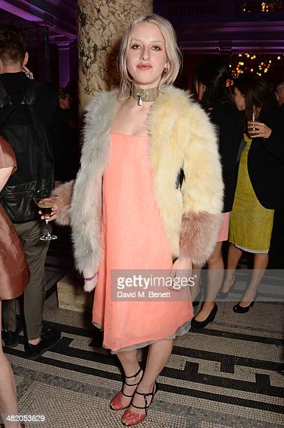 Harriet Verney attends a VIP private view of 'The Glamour of Italian Fashion 19452014' at the Victoria Albert Museum on April 2 2014 in London England