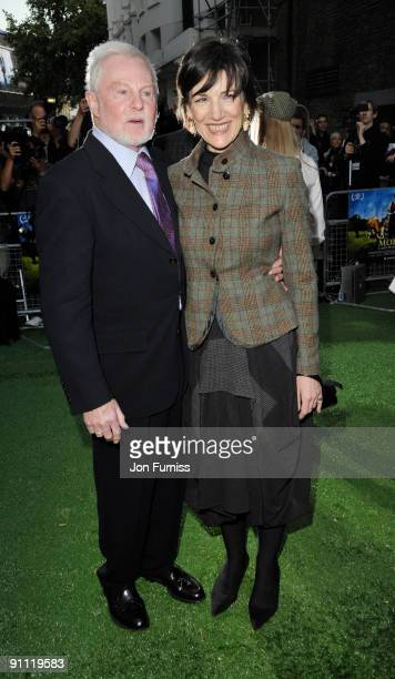 Harriet Walter and Sir Derek Jacobi arrive for the UK film premiere of 'Morris A Life With Bells On' at the Prince Charles Cinema on September 24...