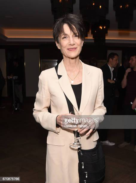 Harriet Walter attends a gala screening of 'Mindhorn' at the May Fair Hotel on April 20 2017 in London England