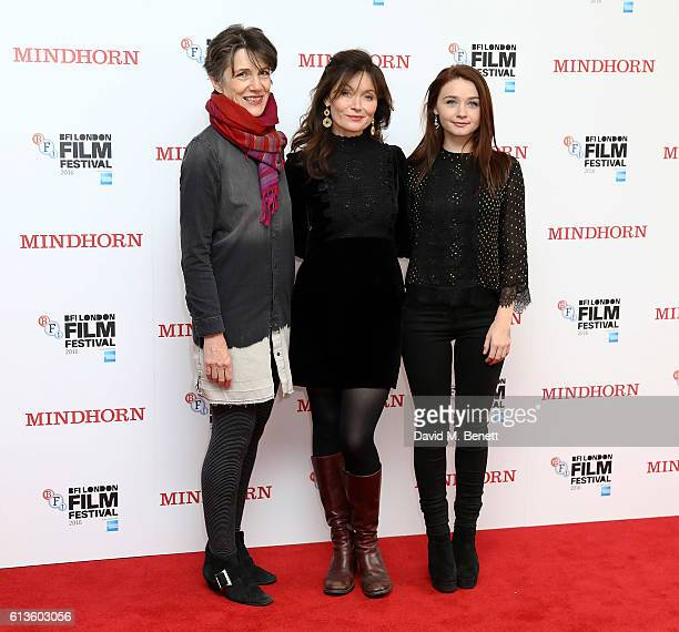 Harriet Walter, Essie Davis and Jessica Barden attend the 'Mindhorn' World Premiere screening during the 60th BFI London Film Festival at Odeon...