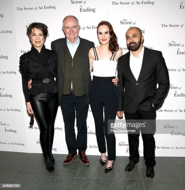 Harriet Walter Jim Broadbent Michelle Dockery and Ritesh Batra attend 'The Sense Of An Ending' New York Screening at The Museum of Modern Art on...