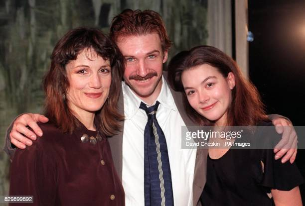 Harriet Walter Ralph Fiennes and Justine Waddell celebrate at the end of tonight's performance of Ivanov at Almeida Theatre Islington Fiennes has...