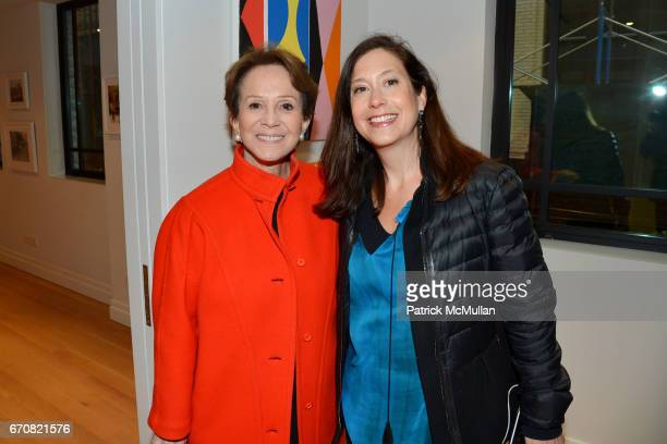 Harriet Weintraub and Tricia Hayes Cole attend the Opening of Muse in the Mews curated by James Salomon at The Printing House on April 19 2017 in New...