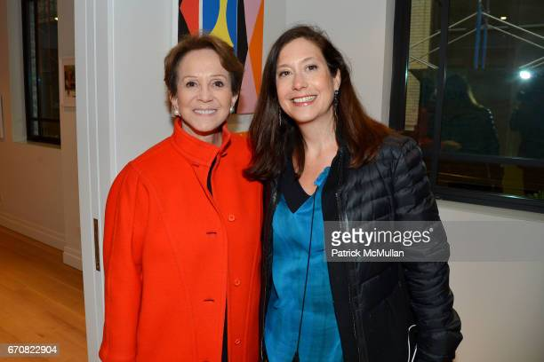"""Harriet Weintraub and Tricia Hayes Cole attend the Opening of """"Muse in the Mews"""" curated by James Salomon at The Printing House on April 19, 2017 in..."""