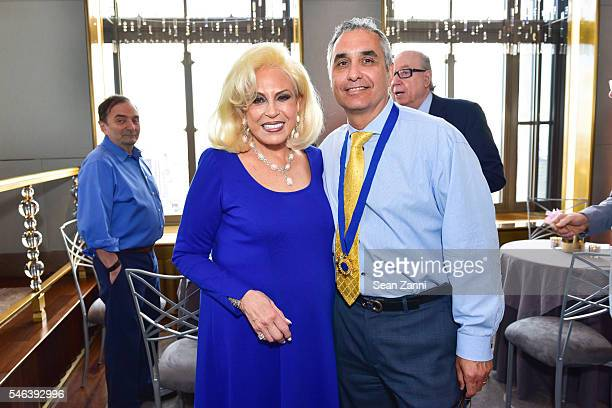 Harriette Rose Katz and Frank Ammaccapane attend Harriette Rose Katz Hosts The Second Anniversary of The Chosen Few at The Rainbow Room on July 11...