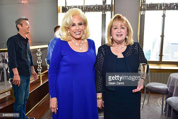 Harriette Rose Katz and Guest attend Harriette Rose Katz Hosts The Second Anniversary of The Chosen Few at The Rainbow Room on July 11 2016 in New...