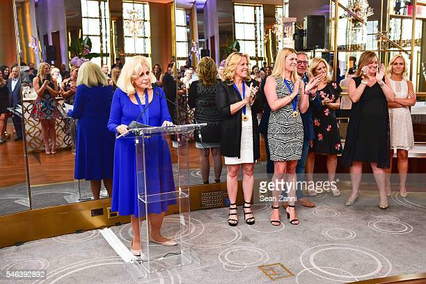 Harriette Rose Katz and Honorees attend Harriette Rose Katz Hosts The Second Anniversary of The Chosen Few at The Rainbow Room on July 11 2016 in New...