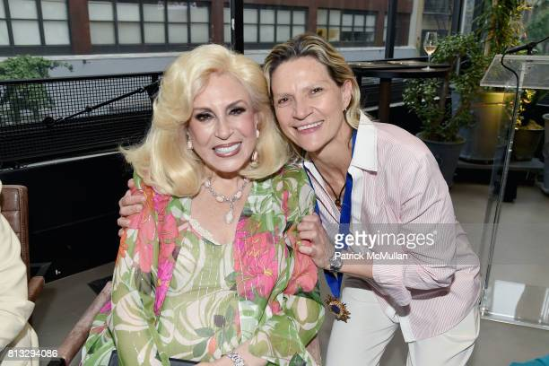 Harriette Rose Katz and Sandra de Ovando attend The Chosen Few's Third Anniversary Hosted by Harriette Rose Katz at Second on July 11 2017 in New...