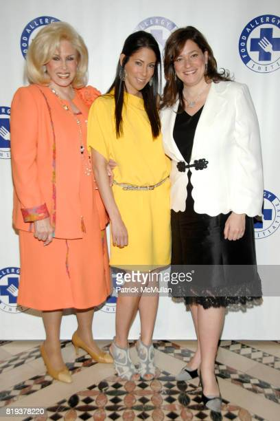 Harriette Rose Katz Roxanne Palin and Melissa Rosenbloom attend THE FOOD ALLERGY INITIATIVE'S Spring Luncheon at Cipriani 42nd Street on April 21...
