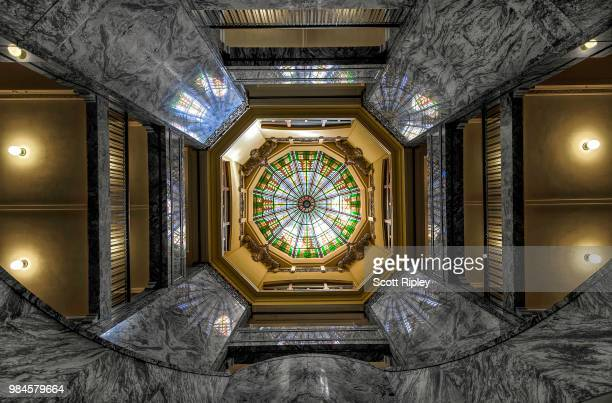 harris county courthouse dome. - harris county courthouse stock pictures, royalty-free photos & images