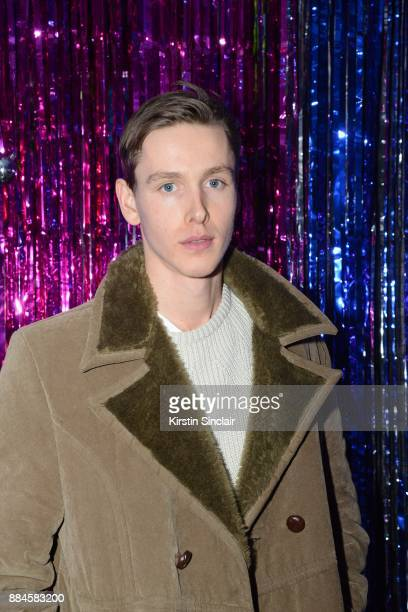 Harris Dickinson attends the Burberry x Cara Delevingne Christmas Party on December 2 2017 in London England