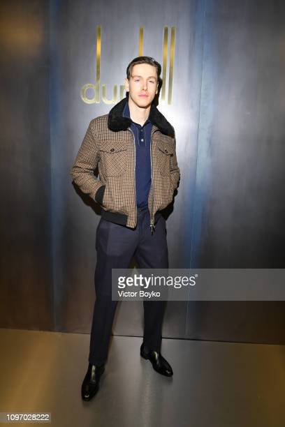 Harris Dickinson attends the Dunhill London Menswear Fall/Winter 20192020 show as part of Paris Fashion Week on January 20 2019 in Paris France