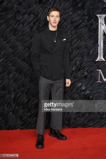 Harris Dickinson attends the European Premiere of Maleficent Mistress Of Evil at the Odeon IMAX Waterloo on October 10 2019 in London England