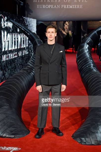 Harris Dickinson attends the European Premiere of Maleficent Mistress Of Evil at the Odeon IMAX Waterloo on October 09 2019 in London England