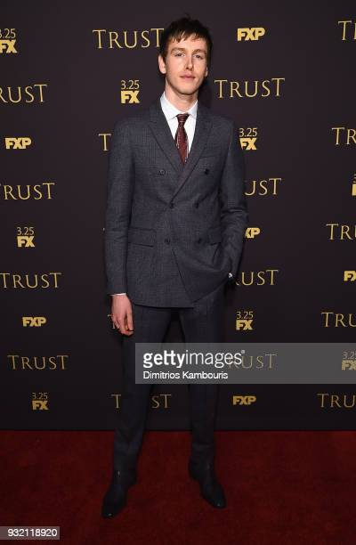 Harris Dickinson attends the FX Networks' Trust New York Screening at Florence Gould Hall on March 14 2018 in New York City
