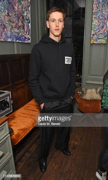Harris Dickinson attends the launch of Port Magazine Issue 24 at Blacks on May 14 2019 in London England