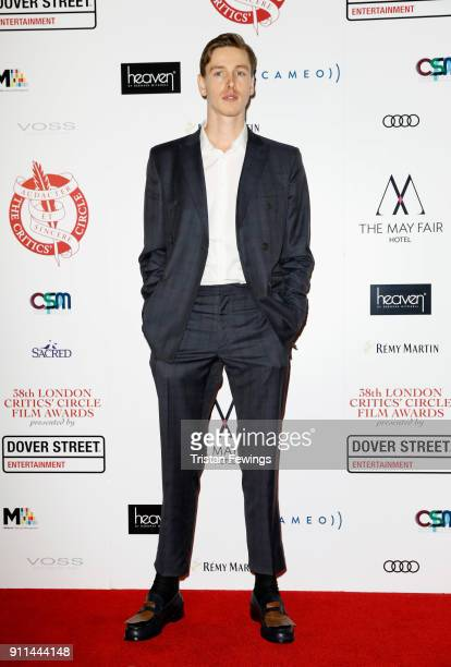 Harris Dickinson attends the London Film Critics Circle Awards 2018 at The Mayfair Hotel on January 28 2018 in London England