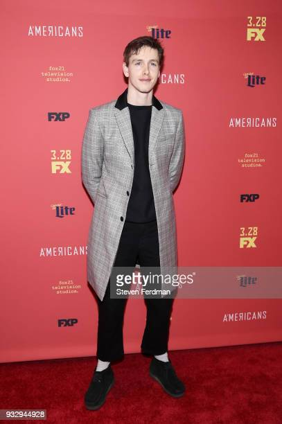 Harris Dickinson attends the 'The Americans' Season 6 Premiere at Alice Tully Hall Lincoln Center on March 16 2018 in New York City