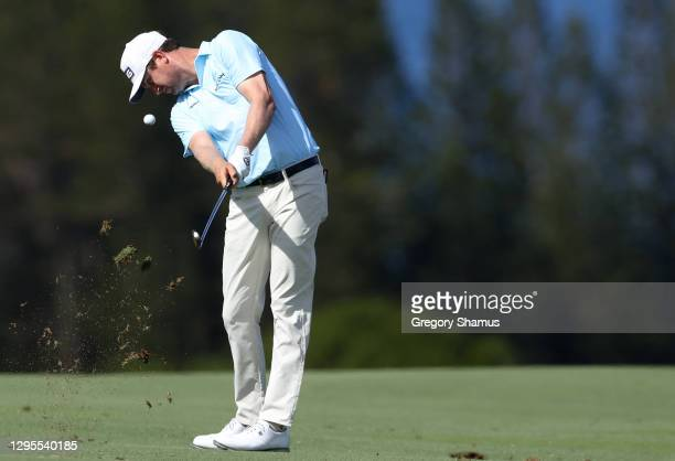 Harris English of the United States plays a shot on the fourth hole during the third round of the Sentry Tournament Of Champions at the Kapalua...