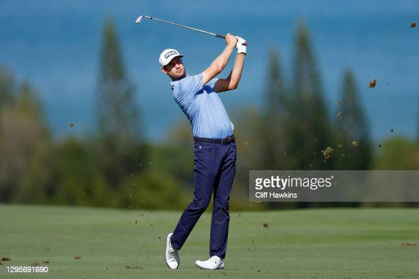 Harris English of the United States plays a shot on the fourth hole during the final round of the Sentry Tournament Of Champions at the Kapalua...