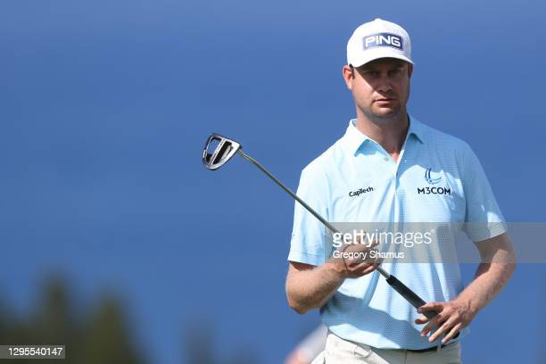 Harris English of the United States walks on the fourth green during the third round of the Sentry Tournament Of Champions at the Kapalua Plantation...