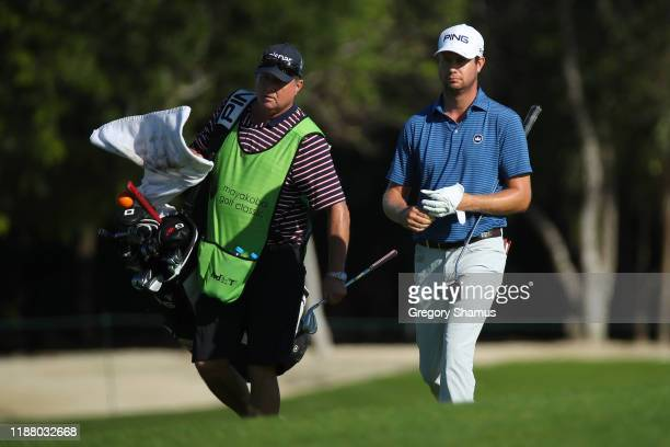 Harris English of the United States walks on the ninth hole during the second round of the Mayakoba Golf Classic at El Camaleon Mayakoba Golf Course...