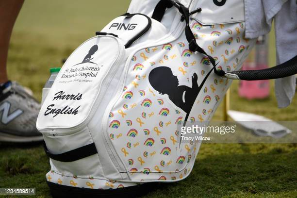 Harris Englishs golf bag during the final round of the World Golf Championships-FedEx St. Jude Invitational at TPC Southwind on August 8, 2021 in...