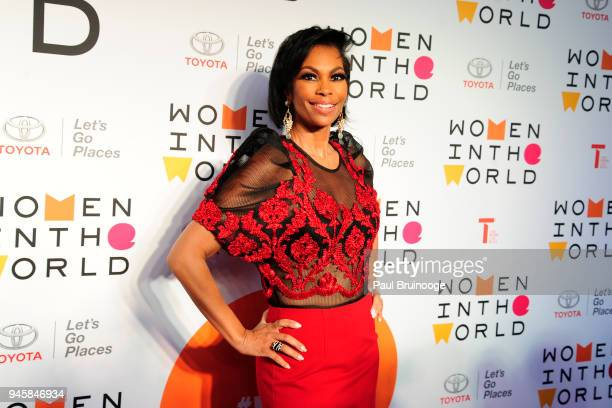 Harris Faulkner attends the 2018 Women In The World Summit at David H Koch Theater Lincoln Center on April 12 2018 in New York City