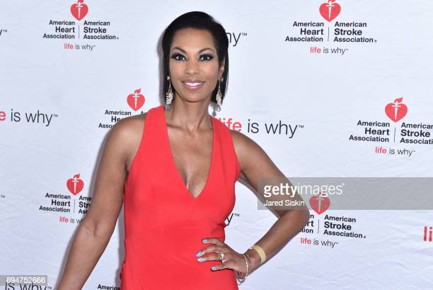 Harris Faulkner attends the 21st Annual Hamptons Heart Ball at Southampton Arts Center on June 10 2017 in Southampton New York