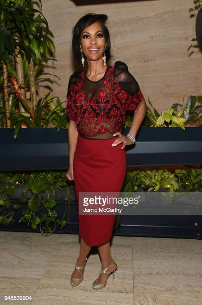 Harris Faulkner attends The Hollywood Reporter's Most Powerful People In Media 2018 at The Pool on April 12 2018 in New York City