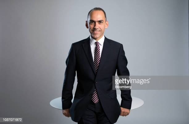 Harris Georgiades Cyprus finance minister speaks during a Bloomberg Television interview in London UK on Friday Sept 21 2018 Georgiades said That...