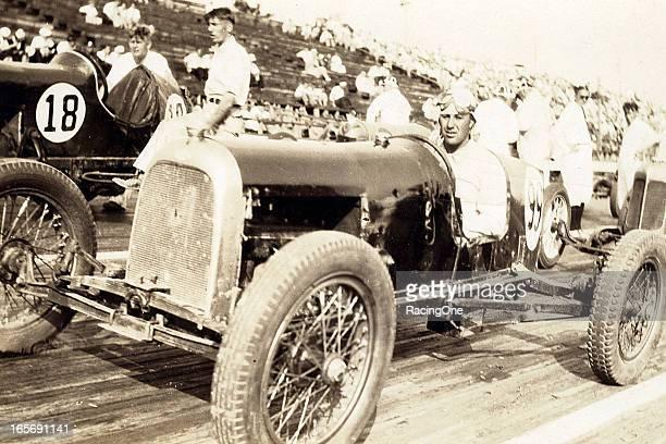 Harris Insinger of Blue Bell, PA, gets set for a Sprint Car race on the Woodbridge Speedway half-mile board track.