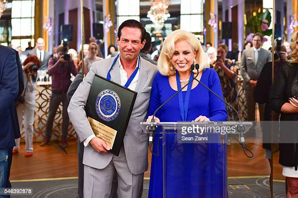 Harris Lane and Harriette Rose Katz attend Harriette Rose Katz Hosts The Second Anniversary of The Chosen Few at The Rainbow Room on July 11 2016 in...