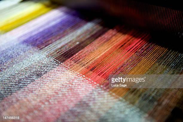 harris tweed, being weaved on the isle of harris - tweed stock pictures, royalty-free photos & images