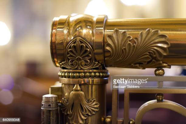 Harrisburg, PA, USA - December, 19, 2016; Detail of rail found in the House of Representatives at the State Capitol in Harrisburg, Pennsylvania.
