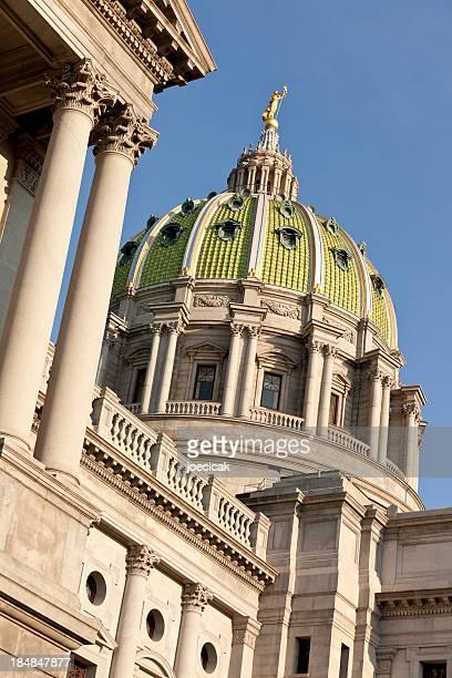 ハリスバーグは、ペンシルバニア州会議事堂のドーム - 州議会議事堂 ストックフォトと画像