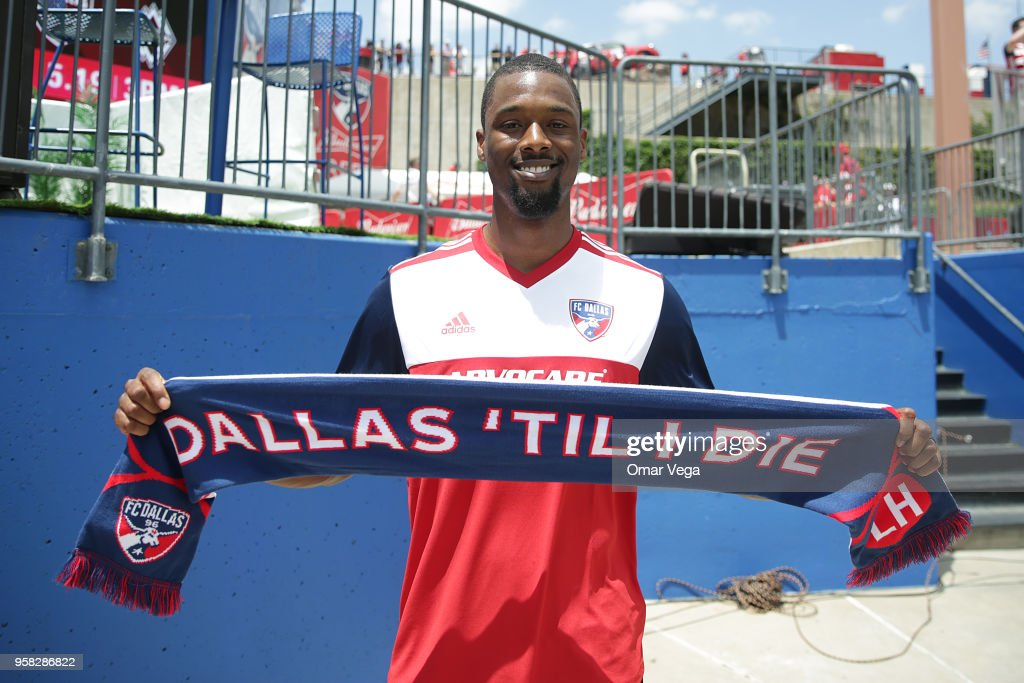 Harrison Barnes is seen prior to the Major Soccer League match between Dallas FC and LA Galaxy at Toyota Stadium on May 12, 2018 in Frisco, Texas.