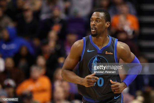 Harrison Barnes of the Dallas Mavericks during the NBA game against the Phoenix Suns at Talking Stick Resort Arena on December 13 2018 in Phoenix...