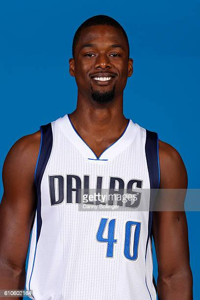 Harrison Barnes of the Dallas Mavericks poses for a headshot during the Dallas Mavericks Media Day on September 26 2016 at the American Airlines...