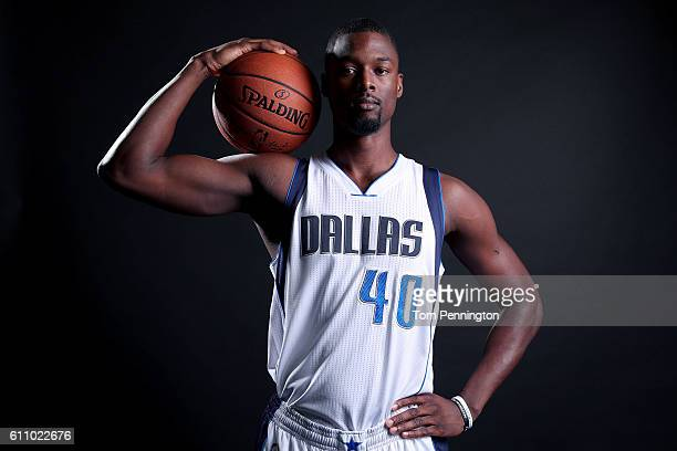 Harrison Barnes of the Dallas Mavericks poses for a portrait during the Dallas Mavericks Media Day held at American Airlines Center on September 26...