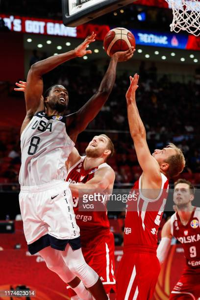 Harrison Barnes of USA goes to the basket during FIBA World Cup 2019 Games 78 match between the United States and Poland at Cadillac Arena on...