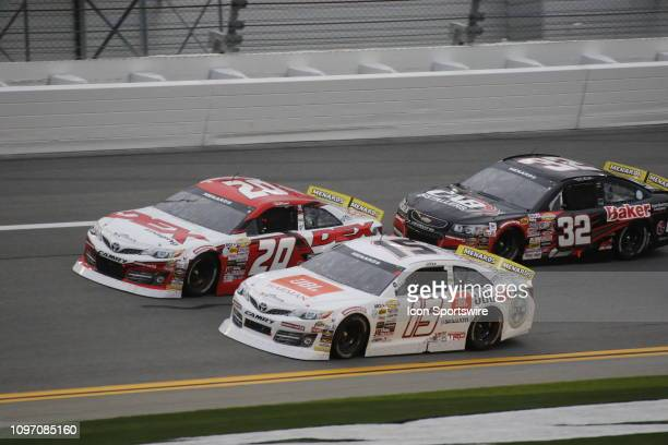 Harrison Burton DEX Imaging Toyota Christian Eckes JBL Audio ToyotaGus Dean CAB InstallersBakerDistLGHVAC Chevrolet during the running of the Lucas...