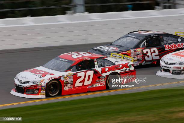Harrison Burton driver of the DEX Imaging Toyota leads the field during the Lucas Oil 200 Driven by General Tire on February 9 2019 at Daytona...